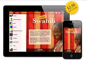 Nkyea Swahili App on iPad/iPhone
